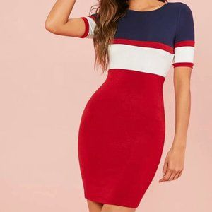 Dresses & Skirts - Red and Blue Dress